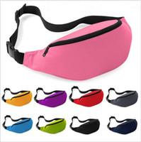 Nylon Unisex Plain 100PCS Unisex Portable Multifunction Sport Runner Fanny Pack Belly Waist Bum Bag Fitness Running Jogging Belt Solid Pouch Waist Bag 9 Color