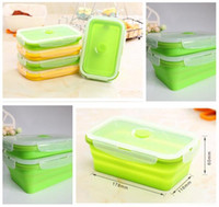 silicone lunch box barbecue manufacturers - Silicone Lunch Bento Box Stackable Food Portable Folding Lunch Box Storage Containers Freezer to Oven Safe Fresh Keeper Box