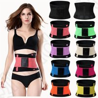 Wholesale Neoprene Waist Trimmer Belts Body Shaper Back Brace Posture Corrector Slimming Belt Adjustable Support Corrector Corset Belly Girdles OOA957