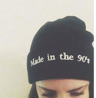 Cráneo del sombrero del esquí España-Hecho en el sombrero de los años 90 Beanie con los sombreros de las lanas de la lana de Pom Sombreros Casquillo hecho punto del esquí Casquillos del cráneo