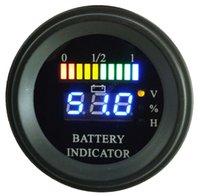 Wholesale Round LED Digital Battery gauge discharge Indicator hour meter state of charge forklift EV V V V V V up to V