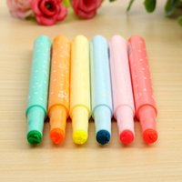 art ink stamps - Lovely Star Nib Highlighter Pen Marker Pens Assorted Ink Stamp Arts Painting Pen Lovely Stationery School Supplies Gifts