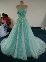 Wholesale Real Photo Ivory lace beads evening dress bridesmaid gown