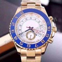 Precio de Esfera blanca para hombre de los relojes automáticos-2016 caliente regalo de Navidad mecánico automático maestro 2 reloj movimiento hombre acero inoxidable bisel azul oro caso blanco dial mens reloj de pulsera