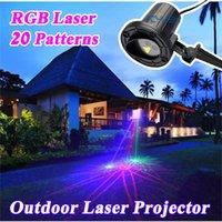 Wholesale RGB patterns Christmas Lights Outdoor Laser Projector Garden Landscape Festival Lamps Waterproof IP65