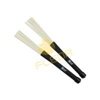 Wholesale NEW Pair High Quality cm Retractable Rubber Handles Jazz Drum Brushes Sticks White Nylon