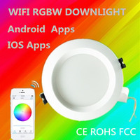 Wholesale Smart LED bulb WIFI Downlight RGBW W AC85 V Control by Android and IOS Apps