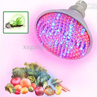 Wholesale E27 RED and BLUE LED W Hydroponic Plant Grow Growth LED Light Bulb V High Power led plant lamp AC V
