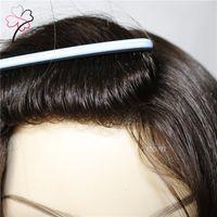 El Toupee de encargo personal de las mujeres libera el tacto de pelo natural del pelo del nudo del lazo de la piel V del estilo libre 10 * 12 pulgadas tamaño.