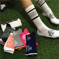 Wholesale Pink Letter Stockings Sports Socks European Style Basketball Cheerleaders Stockings Mix Send Letters Socks Christmas Gift pair OOA1022