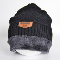 Wholesale 2016 Brand Beanies Knit Men s Winter Hat Caps Skullies Bonnet Winter Hats For Men Women Beanie Fur Warm Baggy Wool Knitted Hat