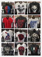 Wholesale Christian religion Summer Men S Fashion Brand PP Short Sleeve T Shirt Men Casual Solid Color High Quality Skulls Sports Camisetas T Shirt qp