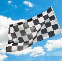 Wholesale 90x150cm x5ft digital print F1 race check Checkered flags polyester checker flying banners