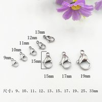 Wholesale High quality L stainless steel lobster deduction necklace jewelry DIY accessories mm mm mm mm mm mm mm mm