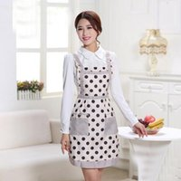 Wholesale Lady s Retro Style Flower Pattern With Pocket Cotton Kitchen Cooking Lattice Apron Cooking Craft UK Baking Home Cleaning Tool Accessories