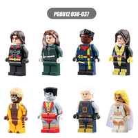 x hommes classiques chiffres achat en gros de-Minifigures de briques PG8012 Marvel X-men Super Heroes Sabretooth Colossus White Queen Figurines DIY Mini Doll Classic POGO Compatible Block toys