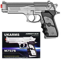 airsoft guns handguns - UK ARMS quot Silver Plastic Airsoft Pistol Handgun Gun w BB M757S FPS Beretta