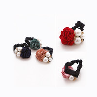 Wholesale fashion hair accessories women strong elastic rope tethered ring clip hair hair accessories