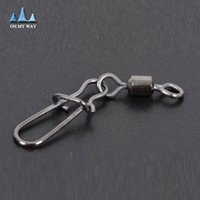 Wholesale Copper Swivel Connector - 50pcs Stainless steel swivels interlock snap fishing tackles tool winter fishing gear accessories Connector copper swivel