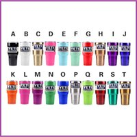 Wholesale Yeti Rambler Tumbler Stainless Steel oz Cups Gold Lime Green Black Orange Blue Purple White Bronze Colors Yeti Cup