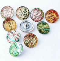 Wholesale Hot Cute cartton Glass Diamond Noosa Interchangeable Snap Buttons DIY Jewelry Accessory Ginger Snap Jewelry Mix styles Round mm