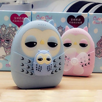 Wholesale Newest Double USB mah Cute Cartoon Owl Power Bank with Fan mobile phone charger Backup powers for all smartphones
