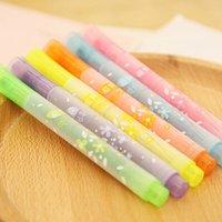 Wholesale South Korea stationery creative special useful cute beauty star shape singular six color mark hightlighters pen