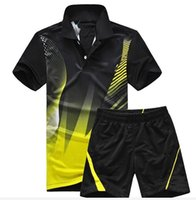 Badminton absorption yellows - table tennis Jersey shorts Moisture absorption Quick drying Sport tennis T shirt shorts badminton wear T Shirt sets M XL