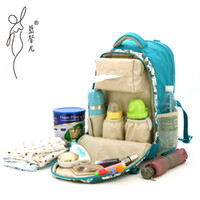 Wholesale New Fashion Brand Diaper Backpack For Babies Multifunctional Nappy Diaper Baby Bags For Mom Maternity Backpacks For Travel