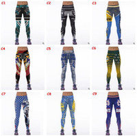 ankle tight - Women Leggings Newest Football Club Womens d Galaxy Printed Leggings for Women Workout Tracksuit Yoga Stretch Tights Sport Leggings