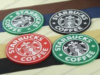 Wholesale 2017 NEW Table decoration Starbucks logo Mermaid silicone coaster round platemat mugs coffee cup mat pad black red green MYY