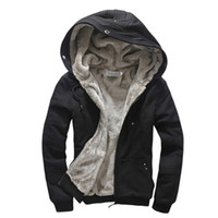 Wholesale Plus Size M XL High Quality Wool Liner Men s Hooded Parkas Men With Thick Keep Warm Coats Winter Men Hoodies