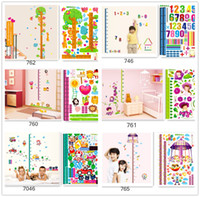 Wholesale Mix order height chart wall stickers collection removable self adhesive growth chart stickers cm cm two size available