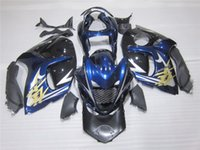 Prezzi Kit e bike-Nuova moto ABS iniezione carenatura Fit Kit per SUZUKI GSXR1300 Hayabusa 08-14 2008 2009 2010 2011 2012 2013 2014 carrozzeria set nero e blu