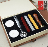Wholesale Top quality Retro Wood Classic Seal Sealing Wax Set Stick Stamp For Letters Wedding Invitation Wax seal New