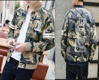basketball jacket design - New Arrival Men s Casual Basketball Jackets Top Quality cotton Patchwork Design camouflage men sportswear jacket