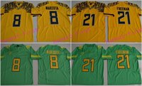 authentic oregon ducks football jersey - Oregon Duck Marcus Mariota Royce Freeman College Football Electric Lightning Limited Embroidery Jersey Authentic Logo Stitched Jerseys