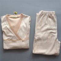Wholesale Original Color Special Counter Ma am Nothing Public Nuisance Organic Colored Cotton Home Furnishing Serve Pajamas Suit No Dyeing Environme