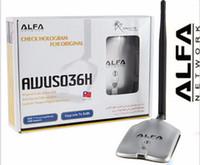 al por mayor alfa network-Nueva actualización ALFA AWUS036NH Red Ralink 3070 2000MW ALFA Adaptador WiFi WiFi USB con 5dbi anenna 1Set