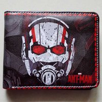 ants animations - Comics DC Marvel Wallets Animation Ant man Revenge Hero Leather Bags Creative Gift Purse Dollar Price Casual Short Wallet