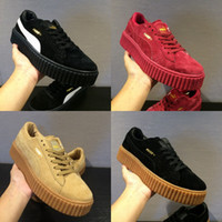 Wholesale 2017 cheap outlet Puma Leadcat Fenty Rihanna suede Womens Running Shoes mens Pumas fenty shoes sneakers Gym shoes Orange