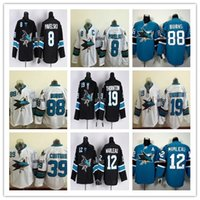 Wholesale Good San Jose Sharks Ice Hockey Running Jerseys Joe Pavelski Burns Thornton Couture Black White Green
