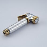 Wholesale Chrome Golden Hand held Toilet Plating Spray Nozzle Sprinkler Shower Head Bidet