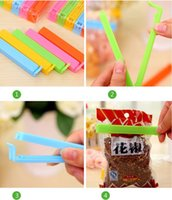 Wholesale 5pcs Plastic Food Bag Clips Colorful Food Fresh Accessories Home Use Storage Bag Sealing Clips