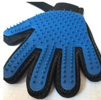 Wholesale dog equipmen Pet grooming True Touch Five Finger Deshedding Glove Dogs Making Pets Hair Cleanup Dogs Cats