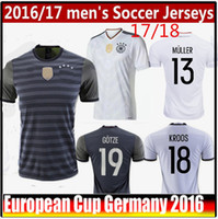 Wholesale 2016 best Thai Euro Cup Germany soccer jersey Ozil Reus Muller Kroos Gotze Away Home shirts Germany Home Confederations Cup Jersey