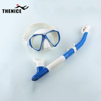 Wholesale New Myopic Optical Lens Snorkeling Diving Gear Scuba Snorkel Silican Mask Dive Equipment Anti Fog Toughened Glass Goggles with Tube