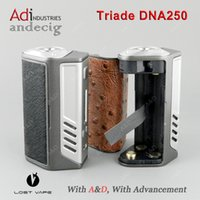 Wholesale Authentic Lost Vape Triade DNA250 w TC BOX MOD Evolv DNA Chip FOR Variou RDA RBA RTA RDTA vs dna200 vt167 ipv8