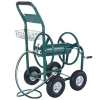 Wholesale Garden Water Hose Reel Cart FT Outdoor Heavy Duty Yard Planting With Basket Hose Would Stay Untangled