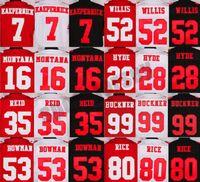 Wholesale Discount Mens Football Jerseys Jerry Rice Eric Reid Joe Montana Carlos Hyde Colin Kaepernick Jerseys Cheap football